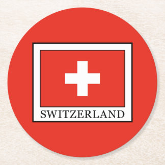 Switzerland Round Paper Coaster