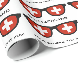 Switzerland Shades custom text & color gift wrap