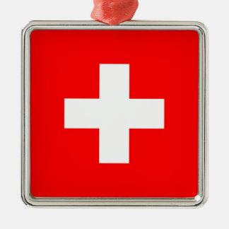 SWITZERLAND Silver-Colored SQUARE ORNAMENT