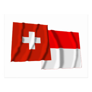 Switzerland Solothurn Waving Flags Postcard