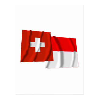 Switzerland & Solothurn Waving Flags Post Cards