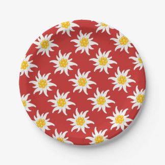 Switzerland - Suisse - Svizzera - Svizra sticking Paper Plate