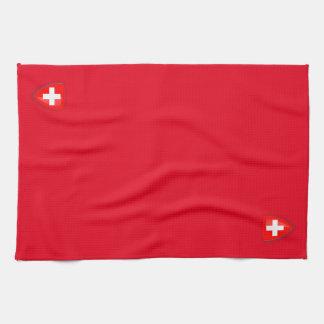 Switzerland Swiss Coat of arms red Kitchen Towel
