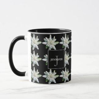 Switzerland Swiss Edelweiss monogram name souvenir Mug