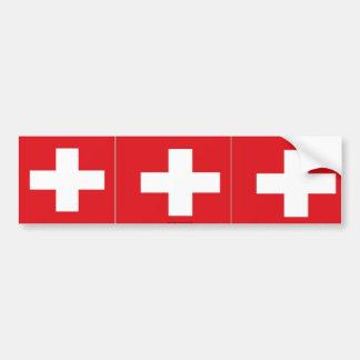 Switzerland swiss flag bumper sticker
