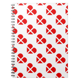 Switzerland/Swiss flag-inspired Personnalised Spiral Notebook