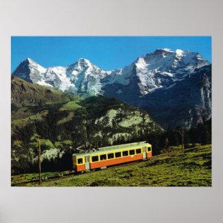 Switzerland,  Train to Jungfraujoch, Poster