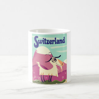 Switzerland Vintage style travel poster Coffee Mug