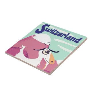 Switzerland Vintage style travel poster Tile