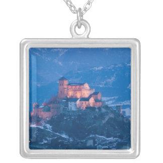 SWITZERLAND, Wallis/Valais, SION: Basilique de Silver Plated Necklace