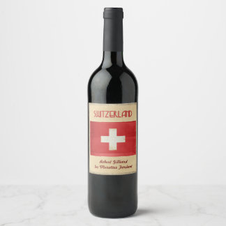 Switzerland Wine Label