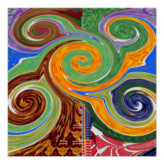 Swival Twisted Tornado Theme FUN PARK Decoration Perfect Poster