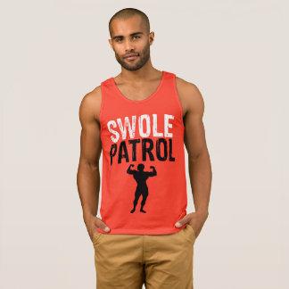Swole Patrol men's red tank top