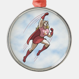 Swole Woman Metal Ornament