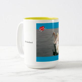 Swooning on Lac Léman Two-Tone Coffee Mug