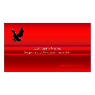 Swooping Black Eagle on red metallic-look effect Business Card