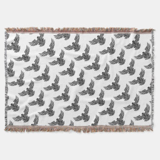 Swooping Eagle Throw Blanket