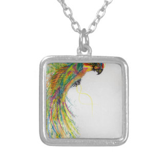 Swooping Parrot Silver Plated Necklace