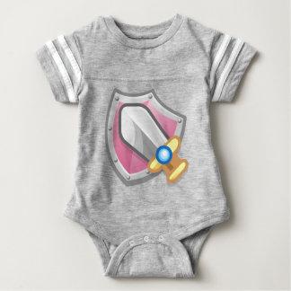 Sword and Shield Baby Bodysuit
