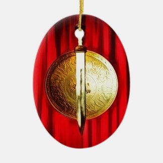 Sword and Shield Rome Ceramic Ornament