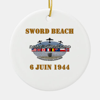 Sword Beach 1944 Ceramic Ornament