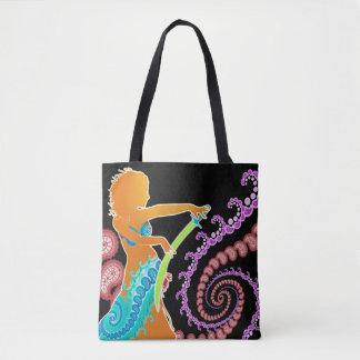 Sword Belly Dance Tote Bag