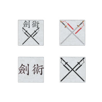 Sword Fighter Stone Magnets