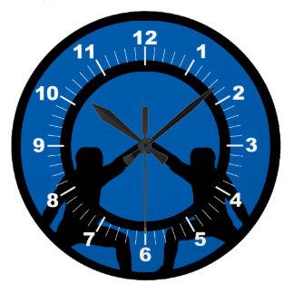 Sword Fighting Large Clock