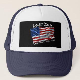 sword fishermen trucker hat