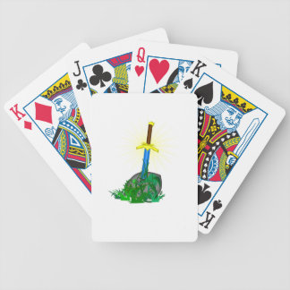Sword in Stone Bicycle Playing Cards