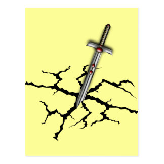 SWORD IN THE CRACKED GROUND POSTCARD