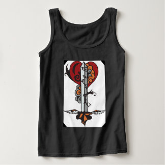 Sword n hearts tank top