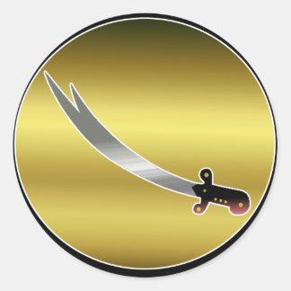 Sword of Ali Classic Round Sticker