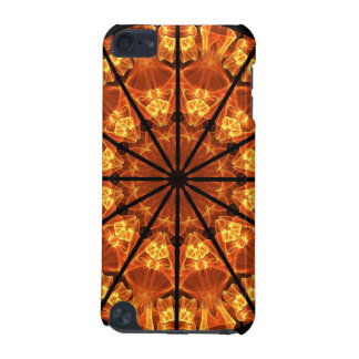 Sword of Passions Mandala, Abstract Orange Black iPod Touch 5G Cover