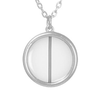 sword simple lines silver plated necklace