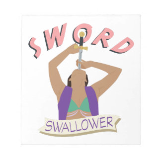 Sword Swallower Notepad