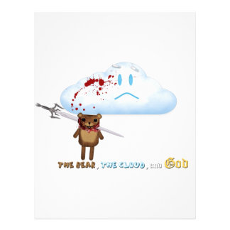 Sword through bear's head and cloud personalized letterhead