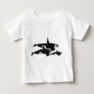 Sword whale family baby T-Shirt