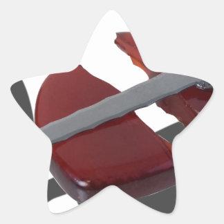 SwordBrokenGlassHeart012915 Star Sticker
