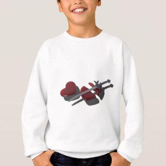 SwordBrokenGlassHeart012915 Sweatshirt