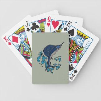 Swordfish Bicycle Playing Cards
