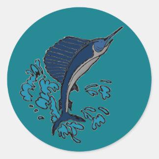 Swordfish Classic Round Sticker