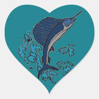 Swordfish Heart Sticker