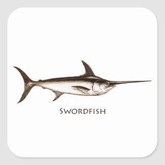 Swordfish Logo Square Sticker