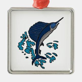 Swordfish Metal Ornament