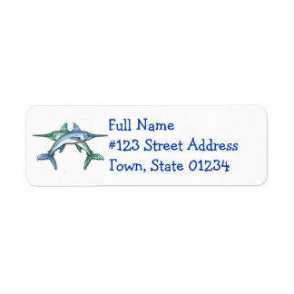 Swordfish Return Address Label