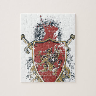 swords and red design jigsaw puzzle