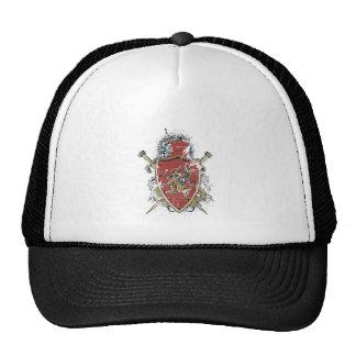 swords and red design trucker hat
