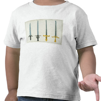Swords, plate from 'A History of the Development a T Shirt
