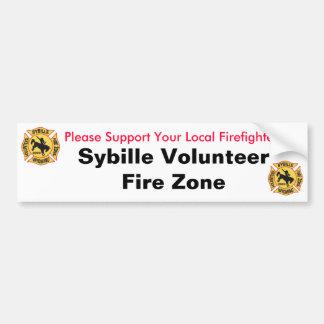 Sybille Volunteer Fire Zone Bumper Stickers